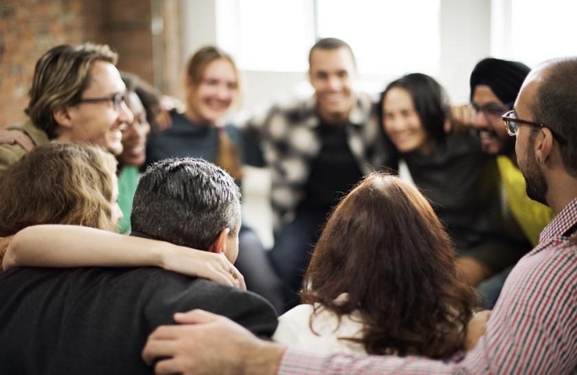 Group-huddle